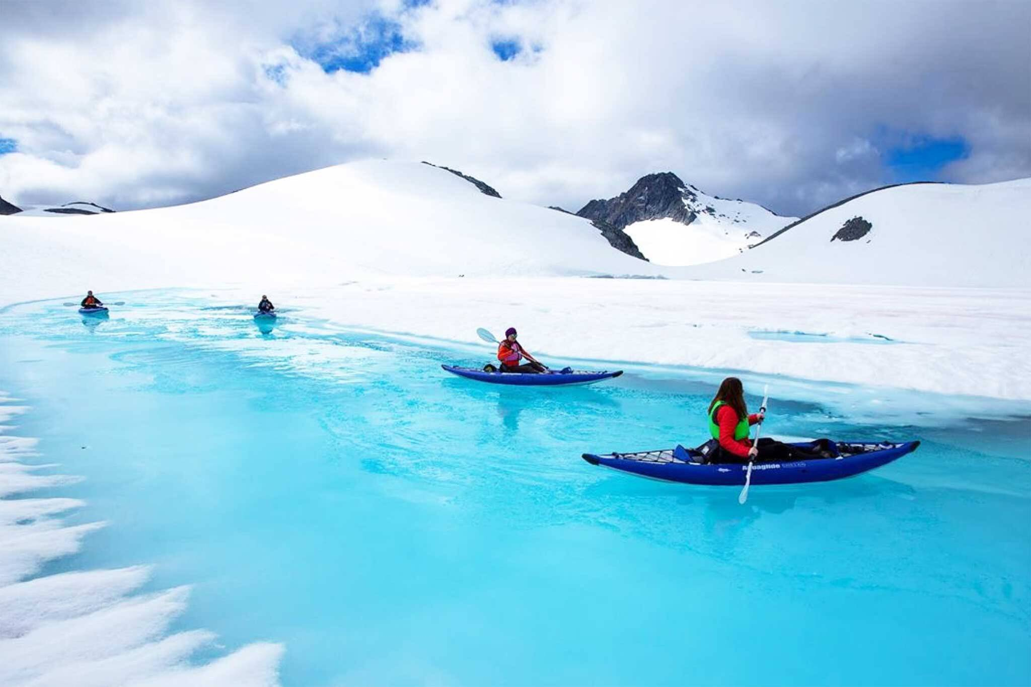 glacier kayaking