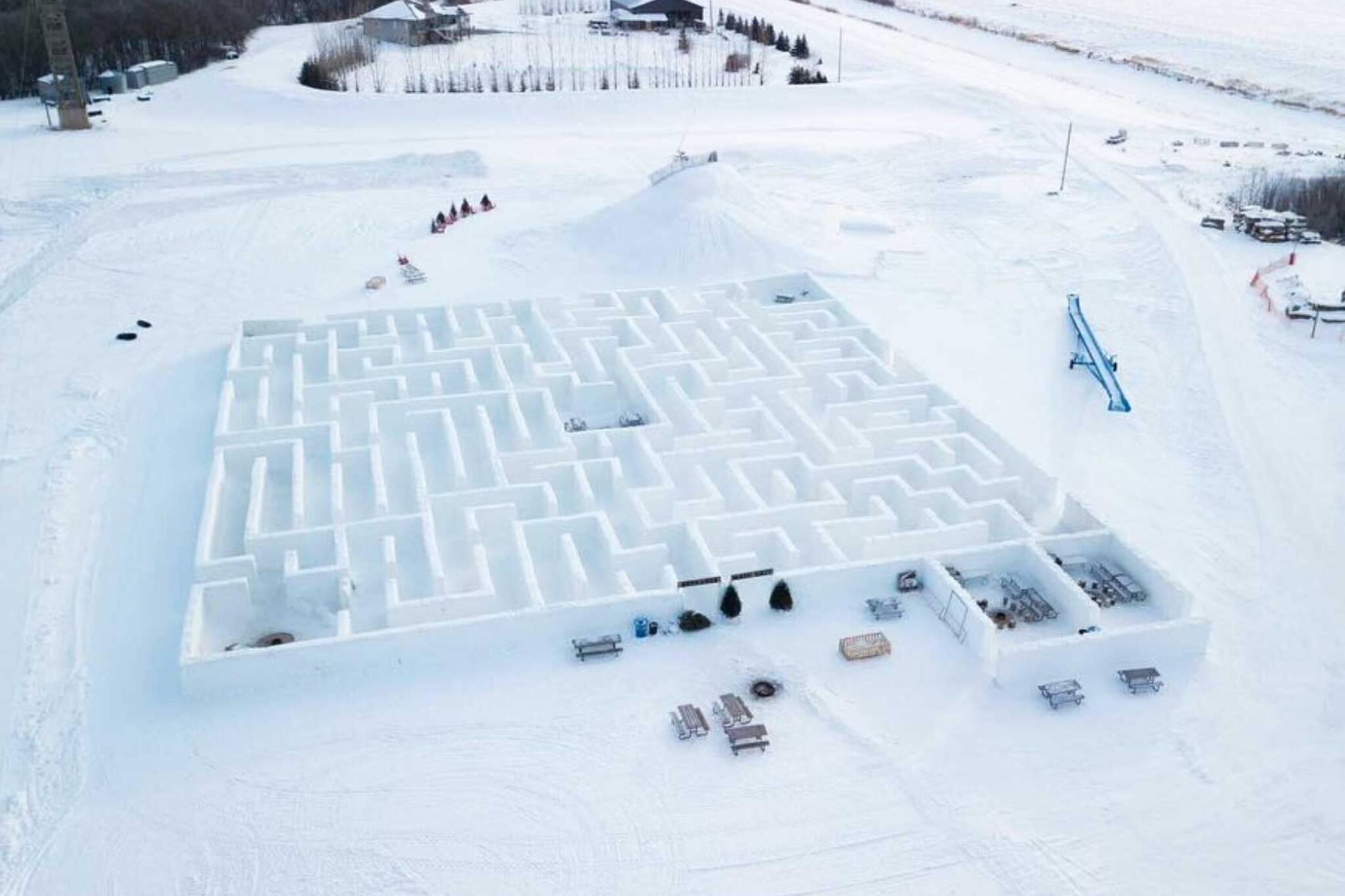 snow maze winnipeg