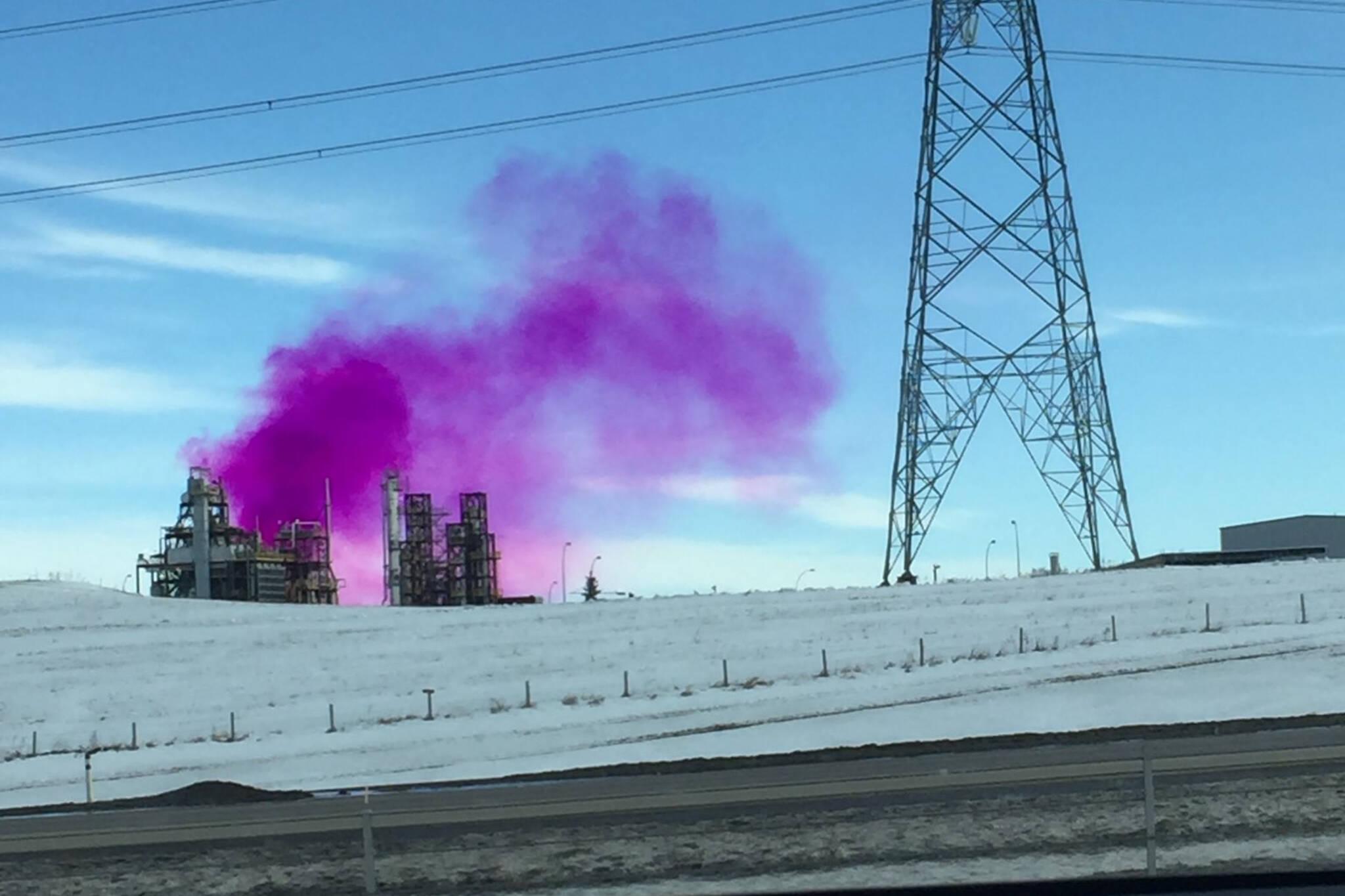 edmonton pink smoke