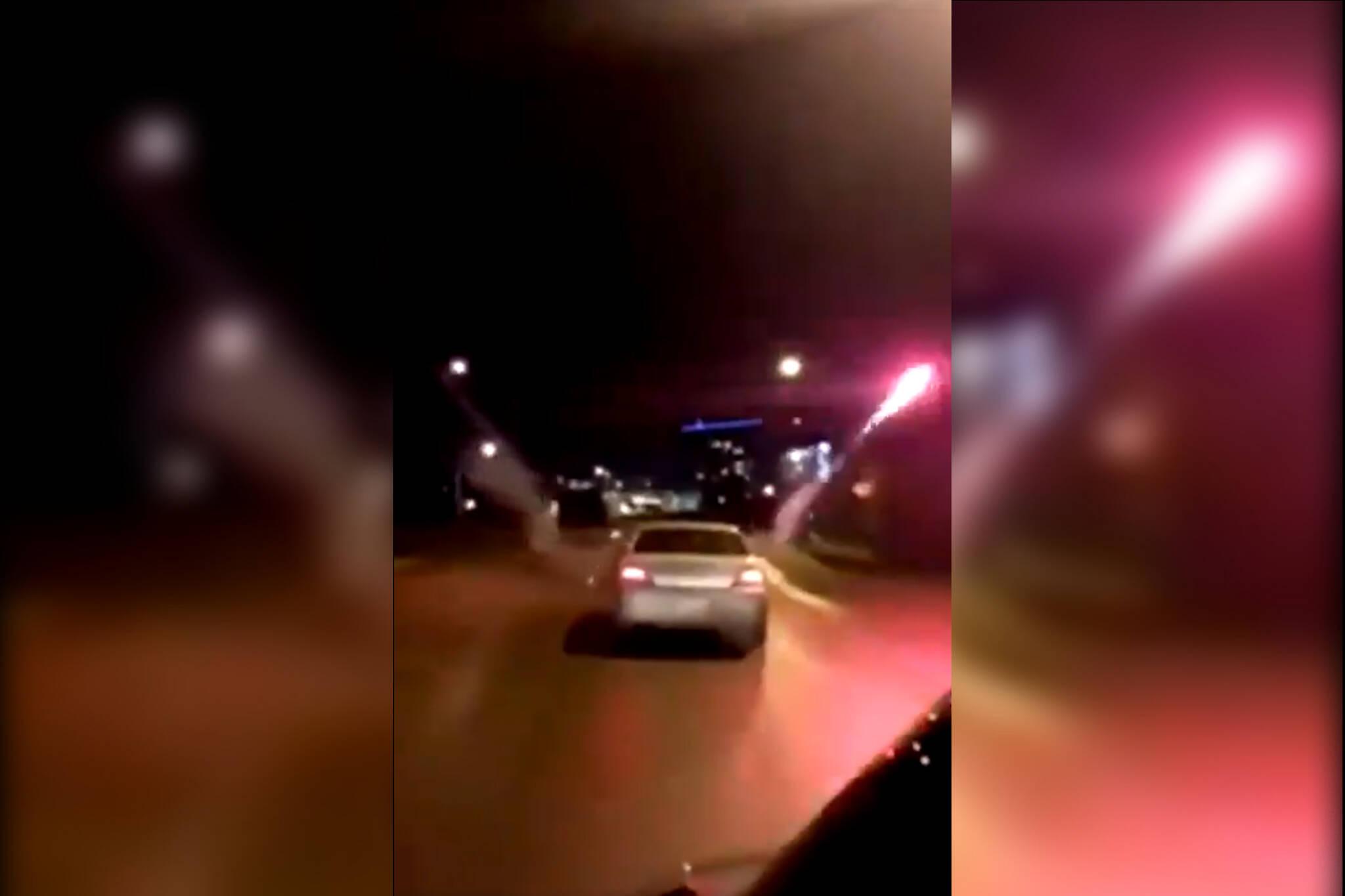 car fireworks