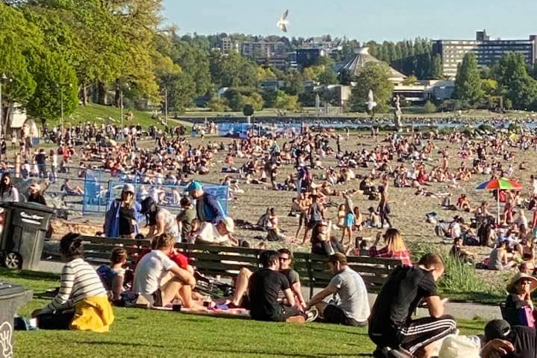 vancouver beaches packed