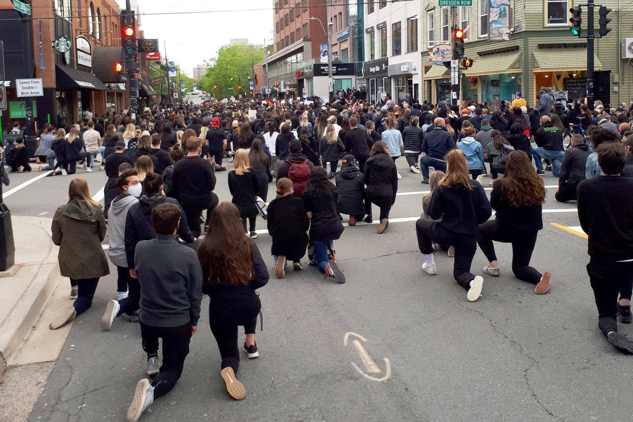 blm calgary protest