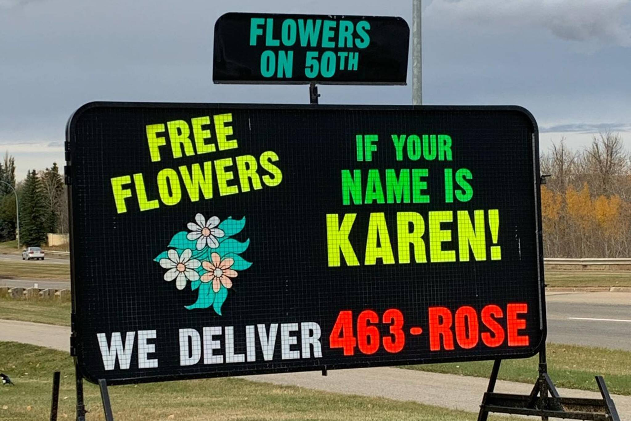 flowers on 50th