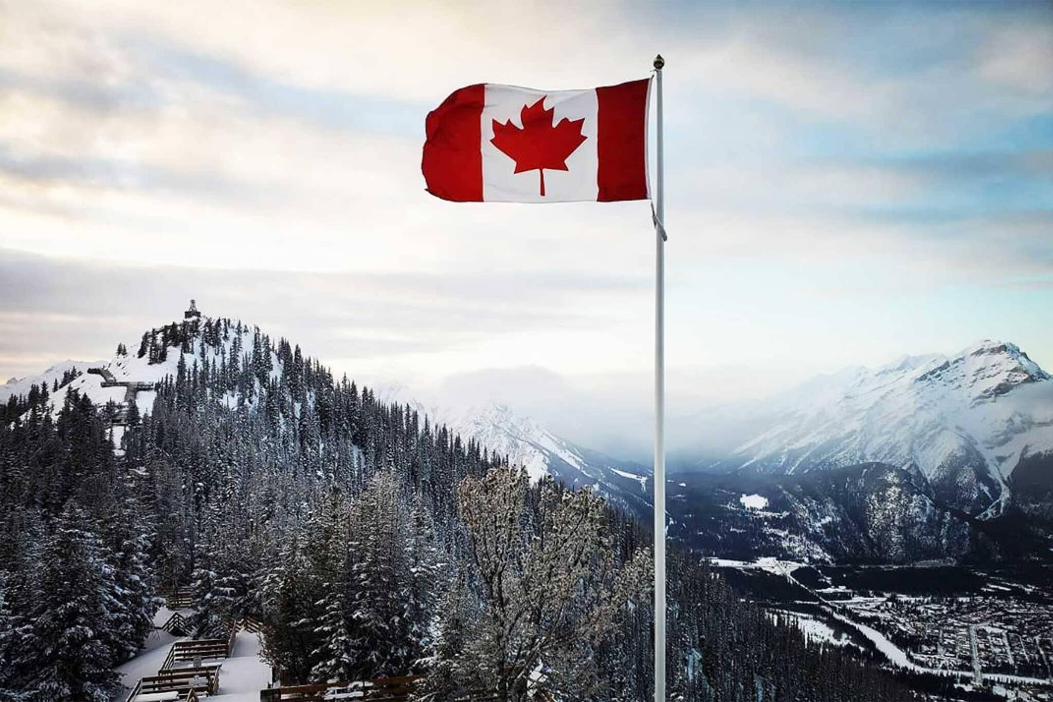 canada flag covid
