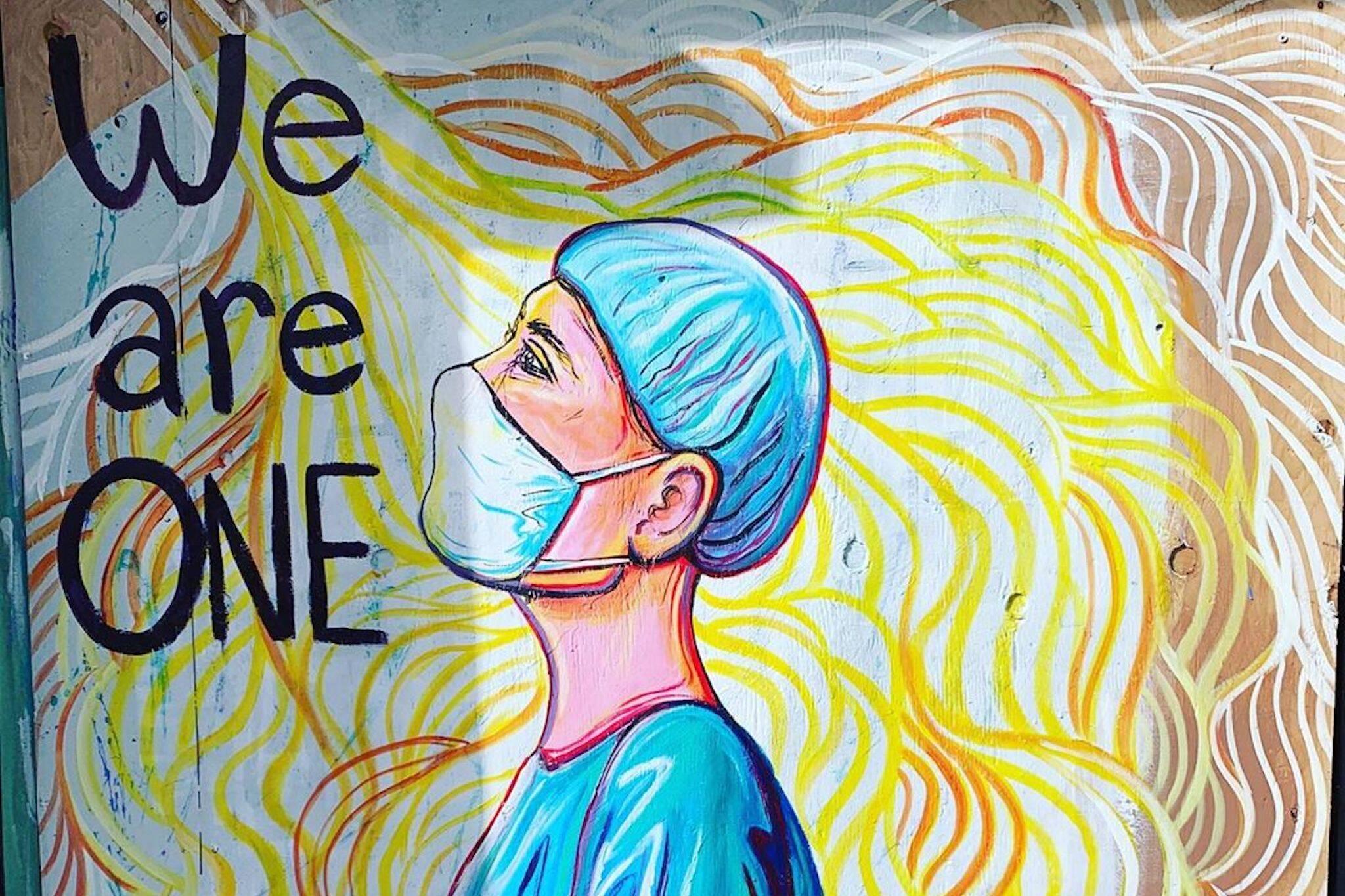 canada murals healthcare workers