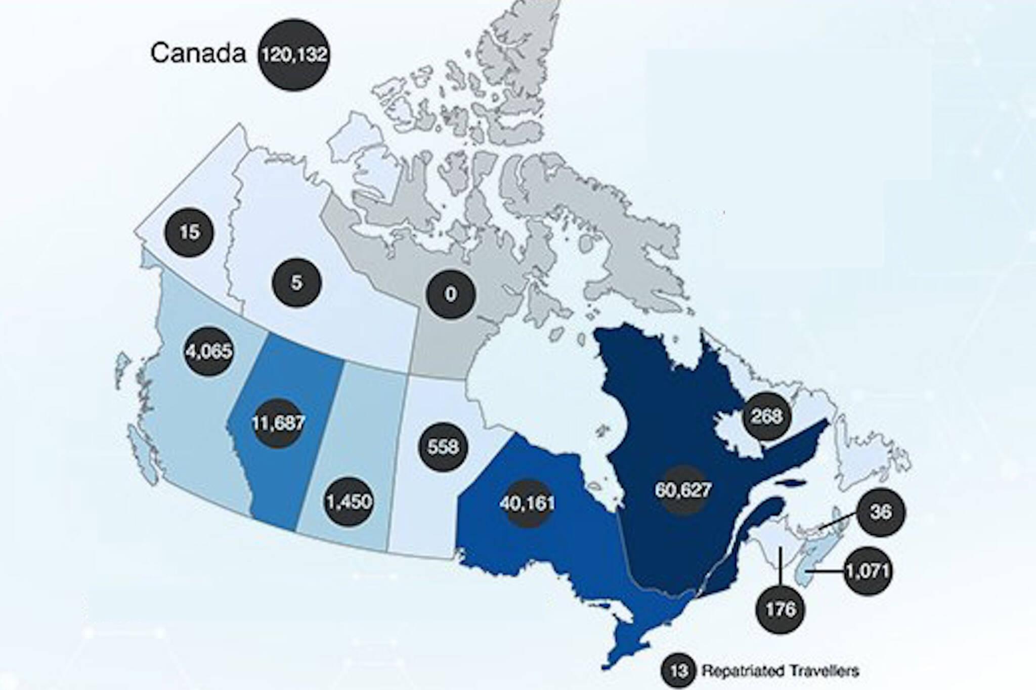 covid 19 map canada